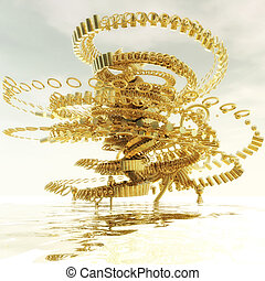 Fractal Structure - Digital Illustration of a Fractal...