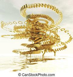Fractal Structure - Digital Illustration of a Fractal...