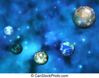 Cosmic Visualization - Digital Illustration of a cosmic...