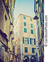 Genoa, Italy retro look