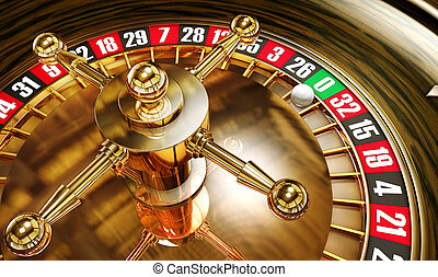 roulette - high resolution 3D rendering of a roulette