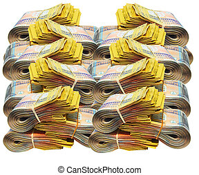 Australian money - Australian currency on white background