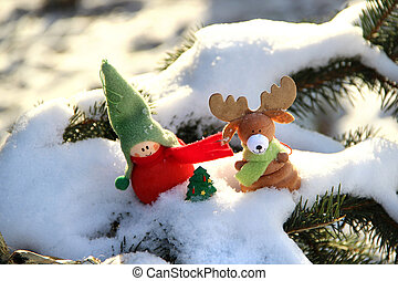 Christmas time with toys - Christmas decoration small funny...
