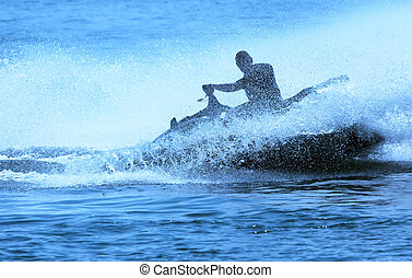Jetski fun - jet-ski fun on a day in summer