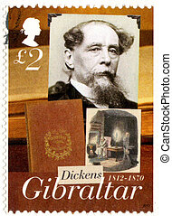 GIBRALTAR - CIRCA 2005 : A stamp printed in Gibraltar shows...