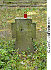 Unknown Soldier - A tomb stone for an unknown German soldier...