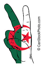 Peace Sign of the Algerian Flag
