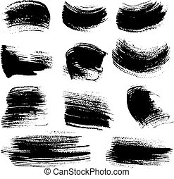 Textured brush strokes set 4 - Textured brush strokes drawn...