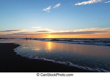 Sunset on a beach