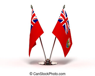 Miniature Flag of Manitoba (Isolated with clipping path)