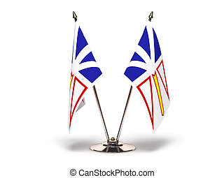 Miniature Flag of Newfoundland (Isolated with clipping path)...