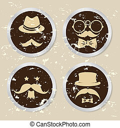 hipster design over rustic background vector illustration...