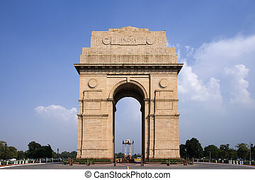 India Gate - Delhi - India - India Gate Memorial in Delhi in...