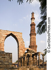 Qutb Minar - Delhi - India - Qutb Minar Victory Tower at the...