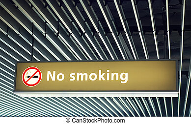 No smoking sign - no smoking sign on the airport