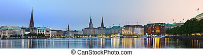 Bright Alster Panorama - Panorama picture of the...