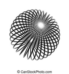 chaos wire ball isolated on white background
