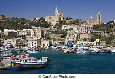 Port of Mgarr - Gozo - Malta - Port of Mgarr on the small...