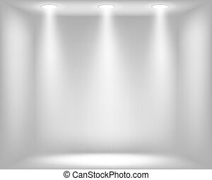 Abstract light grey background with spotlights. Vector eps10...