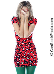 Model Released. Upset Young Woman Crying