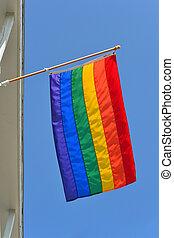 alegre, Orgullo, bandera, 3