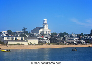 Provincetown Harbor - A view of the harbor of Provincetown,...