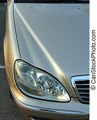 mercedes benz headlight - a mercedes benz headlight