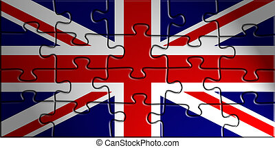 Flag of United Kingdom, national country symbol illustration