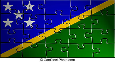 Flag of Solomon Islands, national country symbol...