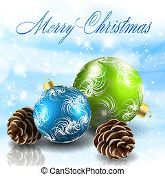Christmas balls with cones Vector eps10 illustration