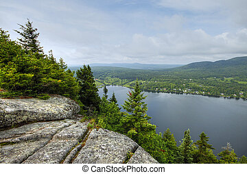 Lakeview from mountain 45 - View of lake Lyster from top of...