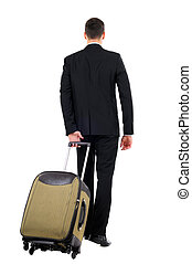 Travelling - Business man leaving in a travel isolated on...