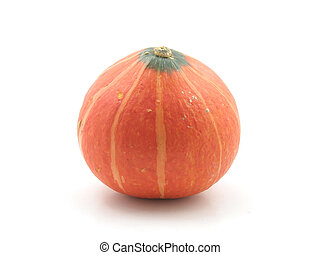 Japanese pumpkin in isolated white background