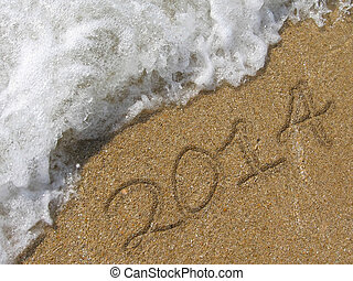 2014 written in the sand beach