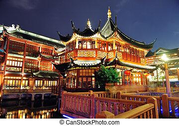 pagode, predios,  Shanghai