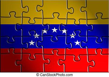 Flag of Venezuela, national country symbol illustration