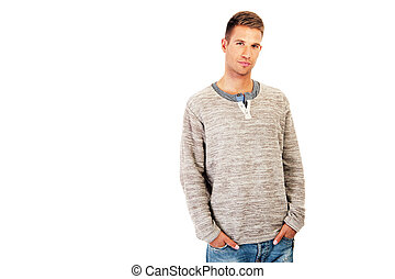 attractive man dressed casual
