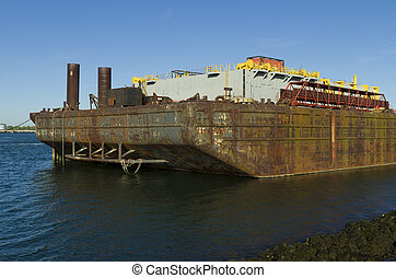 industrial ship - support ship for a pipelay vessel in the...