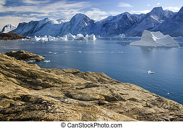 Northwest Fjord off Scoresbysund - Greenland - Northwest...