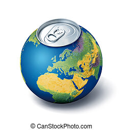 Thirsty planet concept - Global thirst water shortage...