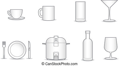 8 household vector collection