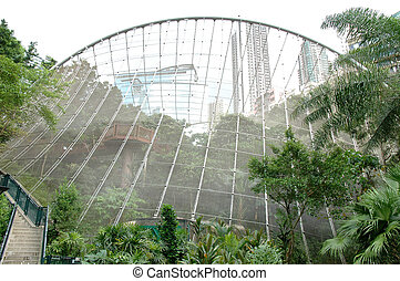 Aviary located in Hong Kong Park