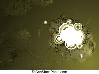 Subtle olive green vector background