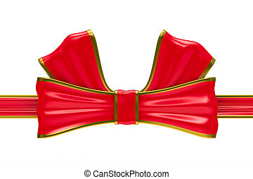 Bow on white background. Isolated 3D image