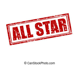 All Star-stamp - Grunge rubber stamp with text All...