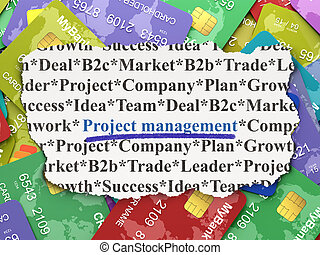 Business concept: Project Management on Credit Card...