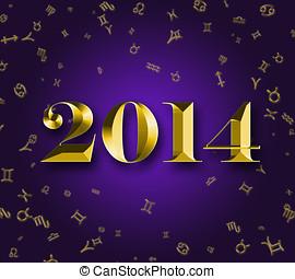 nuevo, año, 2014, astrología, señales