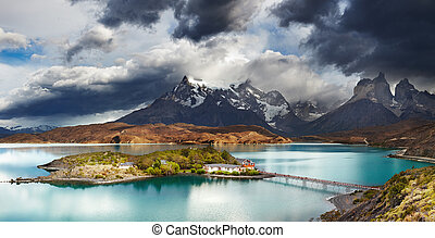 Torres del Paine, Lake Pehoe - Torres del Paine National...