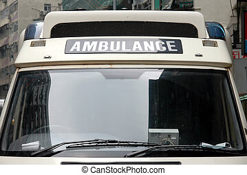 Ambulance - Front of an ambulance