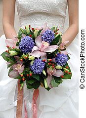 Bride bouquet - Bride and her bouquet